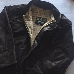 Barbour Bushman Leather Jacket